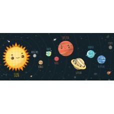 Sihirli Kağıt Güneş Sistemi Çocuk 150x62cm