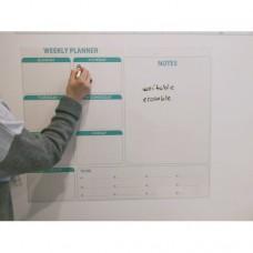 Sihirli Kağıt Haftalık Takvim Planlayıcı Statik Tutunma Özellikli Yapıştırma Gerektirmez İngilizce Baskı 72x60cm