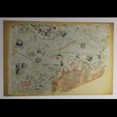 Sihirli Kağıt Piri Reis Haritası Statik Tutunma Özellikli Yapıştırma Gerektirmez 175x117cm
