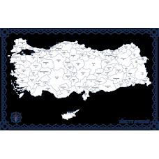 Sihirli Kağıt Türkiye Haritası Şeffaf Kağıt Üzerine Baskı 150x87cm