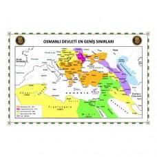 Sihirli Kağıt Osmanlı Devleti Haritası Şeffaf Kağıt Üzerine Renkli Baskı 105x70cm