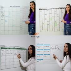 Sihirli Kağıt Yıllık Aylık ve Haftalık Takvim Planlayıcıları İçeren Statik Tutunma Özellikli Yapıştırma Gerektirmez Planlayıcı Seti 4'lü