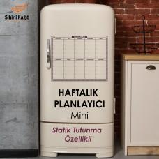 Sihirli Kağıt Haftalık Takvim Planlayıcı Mini Statik Tutunma Özellikli Yapıştırma Gerektirmez 40x50cm 3'lü