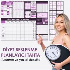 Sihirli Kağıt Diyet Beslenme Planlayıcı Statik Tutunma Özellikli Yapıştırma Gerektirmez 120x100cm
