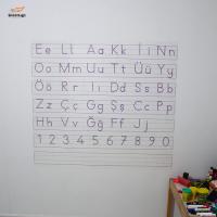 Sihirli Kağıt Yazı Tahtası Elakin Hece Tablosu Statik Tutunma Özellikli Yapıştırma Gerektirmez 110x100cm
