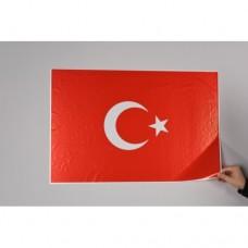 Sihirli Kağıt Türk Bayrağı Statik Tutunma Özellikli Yapıştırma Gerektirmez 75x50cm 2'li