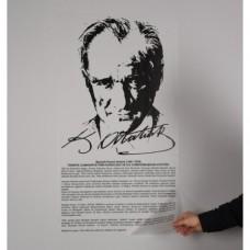 Sihirli Kağıt Atatürk Köşesi Buzlu Kağıt Üzerine Baskı Statik Tutunma Özellikli Yapıştırma Gerektirmez