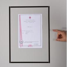 Sihirli Kağıt Çerçeveli Belge Tutucu 36x50cm 5'li