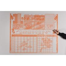 Sihirli Kağıt Öğrenci Planlayıcı Statik Tutunma Özellikli Yapıştırma Gerektirmez 120x100cm