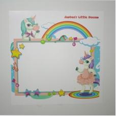"""Sihirli Kağıt Yazı Tahtası Çocuk Odası İçin Tasarlanmış Kişiselleştirilebilir """"Zeynep'in Hayal Dünyası"""" 100x100cm"""