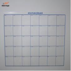 Sihirli Kağıt Aylık Takvim Planlayıcı Özel Baskı Statik Tutunma Özellikli Yapıştırma Gerektirmez 110x100cm