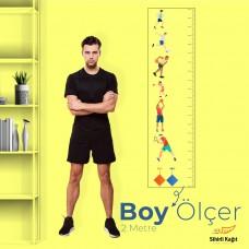 Sihirli Kağıt Yazı Tahtası Renkli Boy Ölçer Erkek Statik Tutunma Özellikli Yapıştırma Gerektirmez 28x100cm