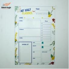 Sihirli Kağıt Günlük Takvim Planlayıcı Statik Tutunma Özellikli Yapıştırma Gerektirmez İngilizce 47x70cm
