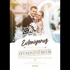 Sihirli Kağıt Düğün Afişi Statik Tutunma Özellikli Yapıştırma Gerektirmez 50x70cm