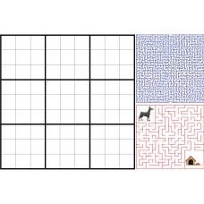 Sihirli Kağıt Yazı Tahtası Sudoku Bulmaca 150x100cm