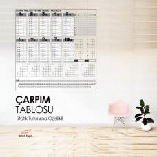 Sihirli Kağıt Yazı Tahtası Çarpım Tablosu Statik Tutunma Özellikli Yapıştırma Gerektirmez 100x100cm