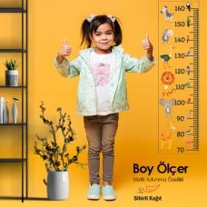 Sihirli Kağıt Yazı Tahtası Renkli Boy Ölçer Statik Tutunma Özellikli Yapıştırma Gerektirmez 25x95cm