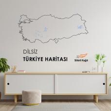 Sihirli Kağıt Dilsiz Türkiye Haritası Statik Tutunma Özellikli Yapıştırma Gerektirmez 114x48cm