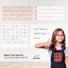 Sihirli Kağıt İlkokul 1'inci Sınıf İçin Yazı Tahtası Eğitim Seti 4'lü