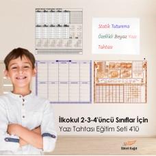 Sihirli Kağıt İlkokul 2-3-4'üncü Sınıflar İçin Yazı Tahtası Eğitim Seti 4'lü
