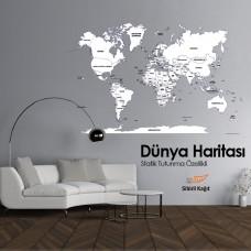 Sihirli Kağıt Dünya Haritası Şeffaf Kağıt Üzerine Baskı İngilizce 150x95cm