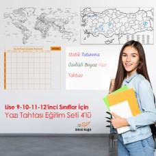 Sihirli Kağıt Lise 9-10-11-12'nci Sınıflar İçin Yazı Tahtası Eğitim Seti 4'lü