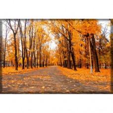 Sihirli Kağıt Doğa Temalı Tablo Sonbahar Statik Tutunma Özellikli Yapıştırma Gerektirmez 175x117cm