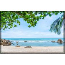 Sihirli Kağıt Doğa Temalı Tablo Kumsal Statik Tutunma Özellikli Yapıştırma Gerektirmez 117x78cm