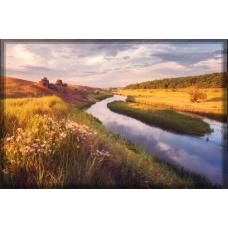 Sihirli Kağıt Doğa Temalı Tablo Nehir Statik Tutunma Özellikli Yapıştırma Gerektirmez 117x78cm