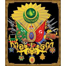 Sihirli Kağıt Osmanlı Arması Şeffaf Kağıt Üzerine Baskı Statik Tutunma Özellikli Yapıştırma Gerektirmez 85x100cm