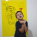 Sihirli Kağıt Renkli Kalın Yazı Tahtası Sarı Pratik Statik Tutunma Özellikli Yapıştırma Gerektirmez Kalemli 100x70cm