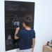 Sihirli Kağıt Renkli Kalın Yazı Tahtası Pratik Statik Tutunma Özellikli Yapıştırma Gerektirmez Siyah Sarı Turuncu Set 3'lü