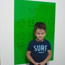 Sihirli Kağıt Renkli Kalın Yazı Tahtası Yeşil Pratik Statik Tutunma Özellikli Yapıştırma Gerektirmez Kalemli 100x70cm